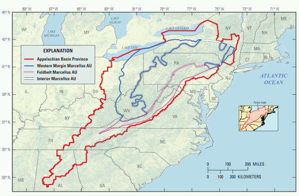 USGS boosts assessment of recoverable natural gas in Marcellus Shale