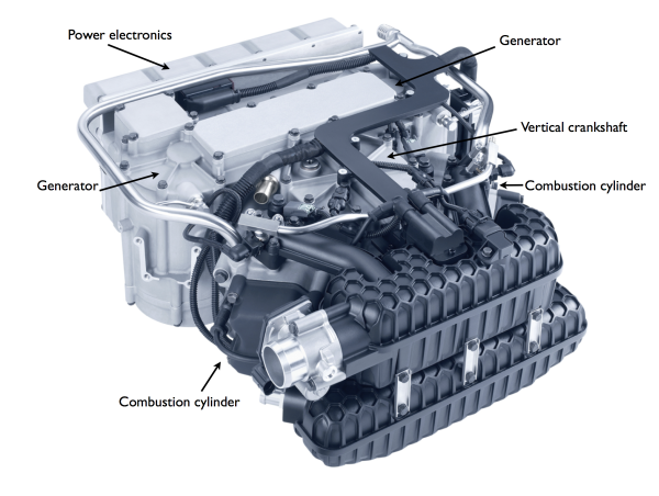 Kspg Shows New Compact Two Cylinder Range Extender For Evs Variable Valve System Green Car Congress