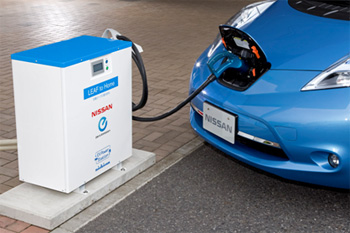 Nissan To Launch The Leaf Home V2h Supply System With Nichicon Ev Station In June Green Car Congress