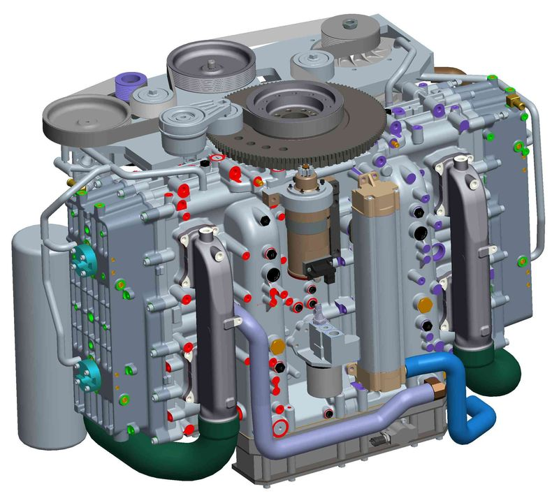 Cox Powertrain CAD model