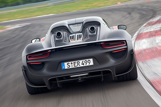 Porsche Introduces 918 Spyder Plug In Hybrid Sports Car Green Congress
