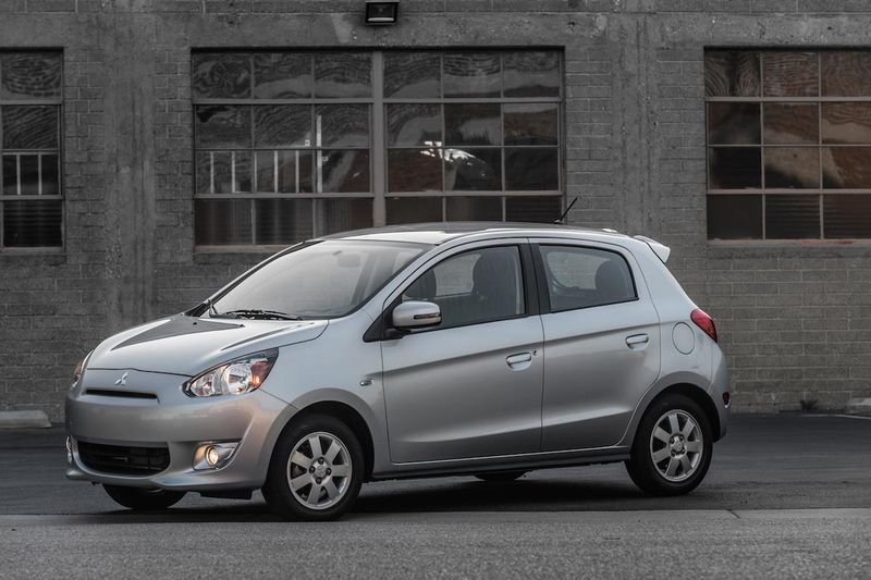 2015_Mirage_30 -  2015 Mitsubishi Mirage w/ 3-cyl engine the most fuel efficient non-hybrid car in US