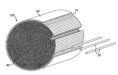New ceramic hollow fiber substrate for catalytic converters