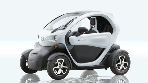 The Nissan New Mobility Concept EV is powered by Li-ion batteries to a speed of up to 80 km/h (50 mph)