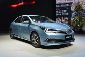 Levin Hybrid Left And Corolla Right Introduced At The 16th Shanghai International Automobile Industry Exhibition In 2017 Click To Enlarge