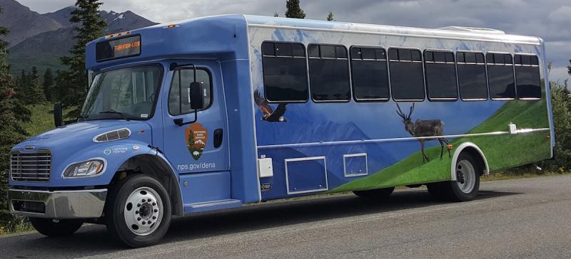 Denali National Park - Lightning Hybrids Shuttle Bus -  Freightliner