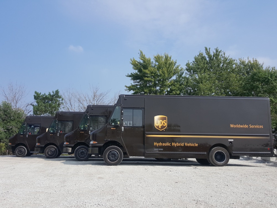 UPS places 50 advanced hydraulic hybrids in its fleet in time for holiday rush