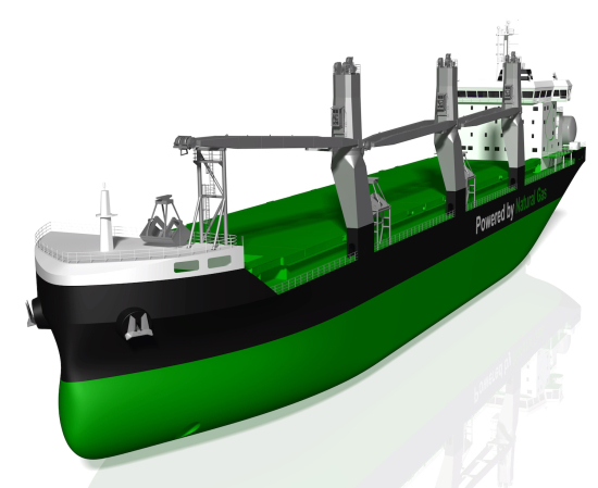 Image of the bulk carrier