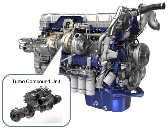 photo image Volvo D13 turbo compound engine delivers up to 6.5% improvement in fuel efficiency