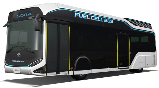 photo image Toyota showing two new fuel cell concepts at Tokyo Motor Show: bus and car