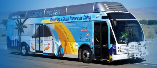 photo image SunLine Transit puts new long-range fuel-cell range extended electric bus into service