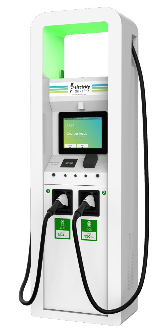 Electrify America installing 150/350 kW fast chargers at more than 100 Walmart locations