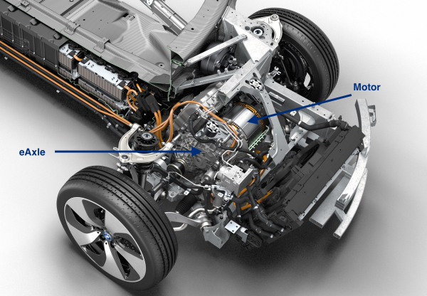 Gkn Develops Two Speed Eaxle In Production On Bmw I8