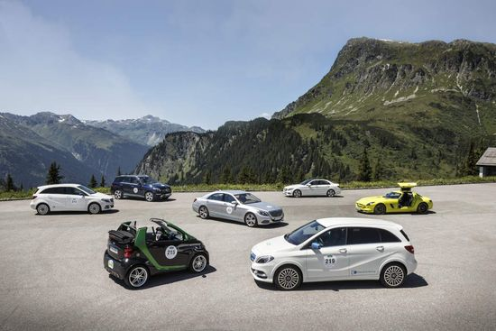 Daimler running 6 different electrified models in Silvretta E-Car Rally; hints at Li-sulfur