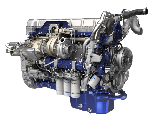 Volvo Trucks D13 engine with turbo compounding improves fuel efficiency up to 6.5% and delivers more torque