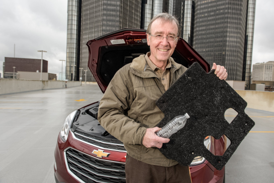 GM recycles 2M Flint water bottles into fleece for homeless, car parts and air filters