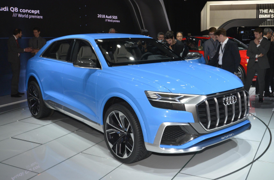 The Audi Q8 Concept Accelerates From 0 To 100 Km H 62 1 Mph In 5 4 Seconds On Its Way A Top Sd Of 250 155 3 According Standard