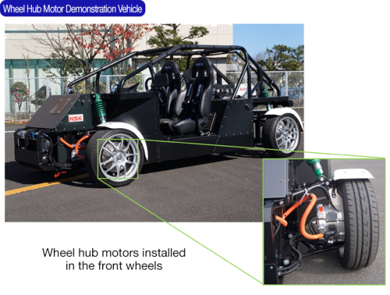 Nsk Demonstrated The Superior Performance Of This Technology Using An Experimental Vehicle Equipped With A Prototype Wheel Hub Motor
