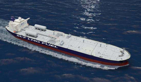 SCF LNG fueled Aframax tanker concept 03
