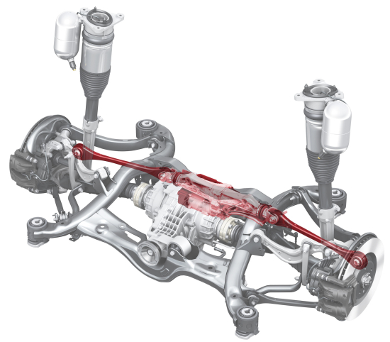 Multi Link Rear Suspension: Audi A8 Fully Active Electromechanical Suspension Powered