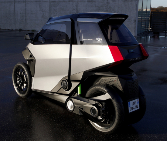 photo image EU-Live project unveils electrified 3-wheeler; designed by Groupe PSA