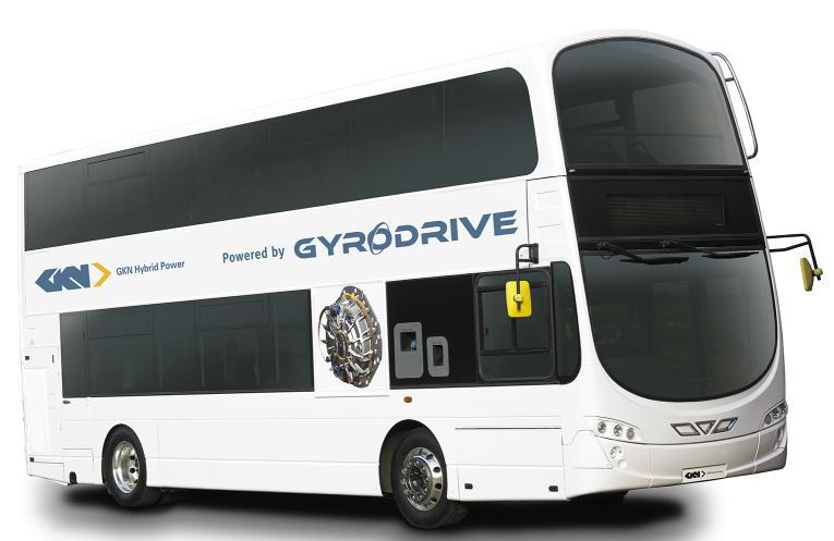 GKN Gyrodrive hybrid bus 1