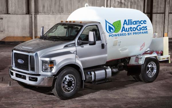 Alliance Autogas showcases converted F650/F-750 LPG bi-fuel