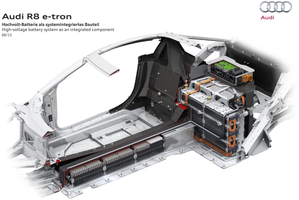 A closer look at Audi's new R8 e-tron EV and battery ...