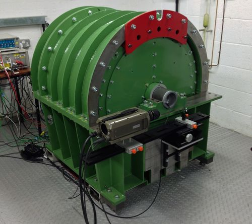 New safety test environment for high-speed flywheels for energy storage systems; new high-speed imaging techniques