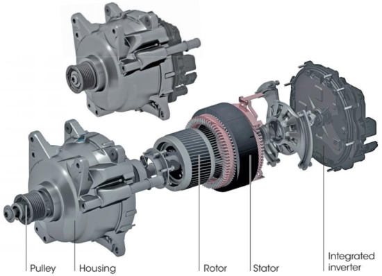 Continental puts first 48v hybrid assist system into production with belt driven starter generator 48 volt electric drive from continental click to enlarge publicscrutiny Choice Image