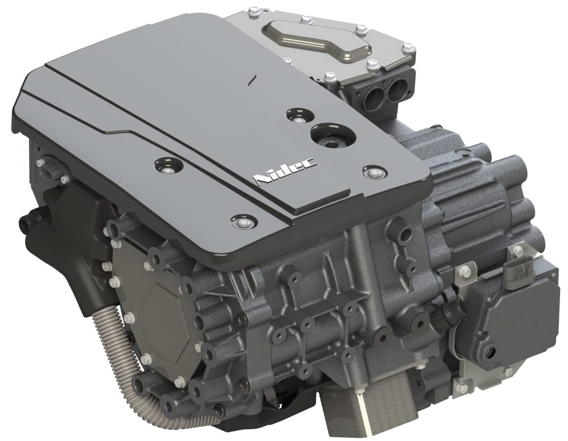 Nidec develops fully integrated traction motor system (e-axle)