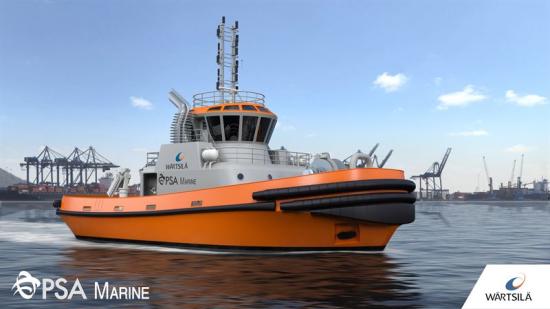Wärtsilä to design and equip PSA Marine's new LNG-fueled harbor tug