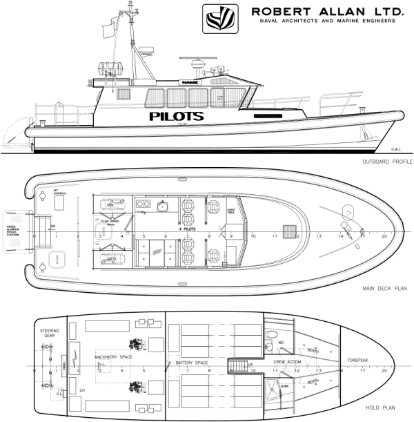 robert allan ltd  designs new battery-electric pilot boat