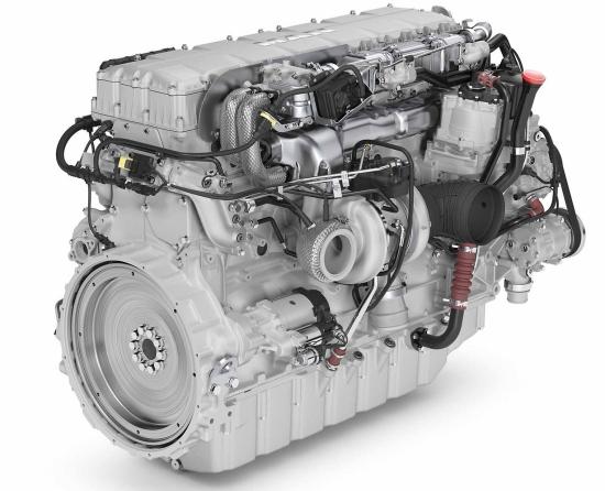 MAN Engines showcasing D3876 diesel engine for EU Stage V