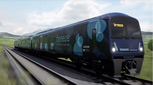 photo image Alstom and Eversholt Rail unveil a new hydrogen train design for the UK