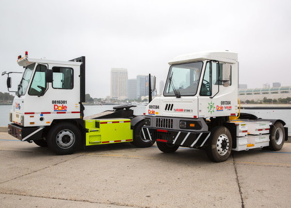 Two BYD electric terminal trucks deploy at Port of San Diego
