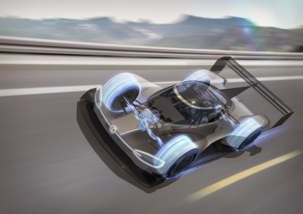 Volkswagen I.D. R Pikes Peak produces around 20% of its own energy requirements via recuperation