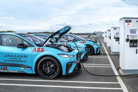 ABB becomes official charging partner for Jaguar I-PACE eTROPHY series