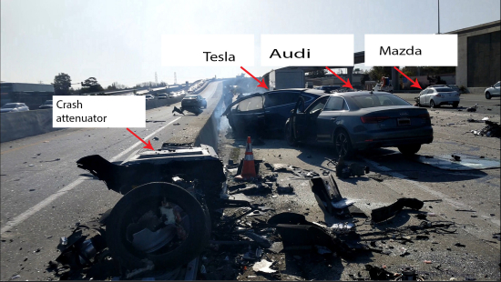 photo image NTSB issues preliminary report on fatal Tesla crash in Mountain View