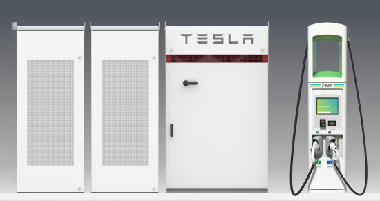 Electrify America & Tesla Graphic