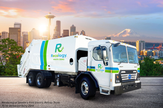 BYD to deliver two Class-8 battery-electric refuse trucks to Recology