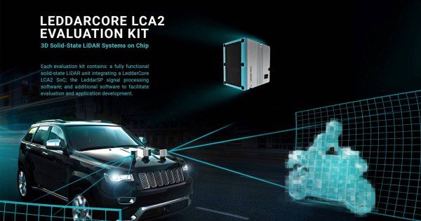 photo image LeddarTech delivers first LCA2 solid-state LiDAR chips to automotive partners