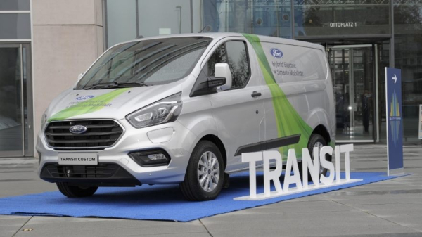 ford extends transit plug in hybrid van trial to cologne. Black Bedroom Furniture Sets. Home Design Ideas