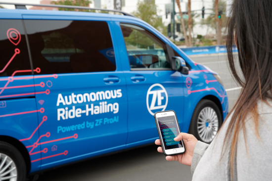 ZF unveiling robo-taxi at CES 2019
