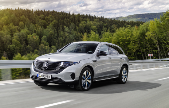 photo image Mercedes-Benz EQC electric crossover makes US debut at CES 2019