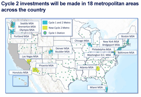 photo image Electrify America releases $300M Cycle 2 national ZEV investment plan; metro charging, autonomous charging, renewable…