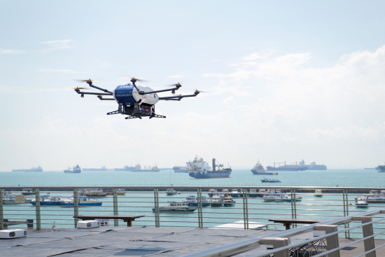 Wilhelmsen Ships Agent - Loading in parcel at Marina South Pier landing platform