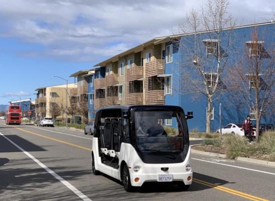 Saic Demonstrating Autonomous Electric Shuttle At Uc Davis