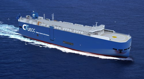 UECC contracts for two battery hybrid LNG car carrier