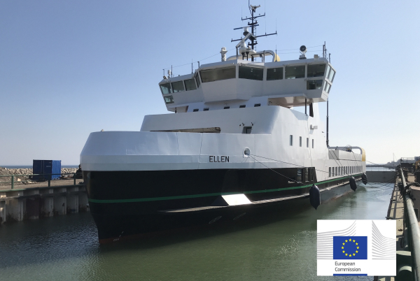 photo of World's largest electric ferry completes maiden voyage; 4.3MWh Leclanché battery system image